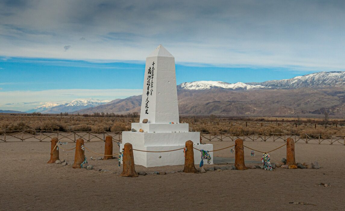 Monument to the Japanese Americans interred at Manzanar War Relocation Camp; Photo courtesy of Shutterstock